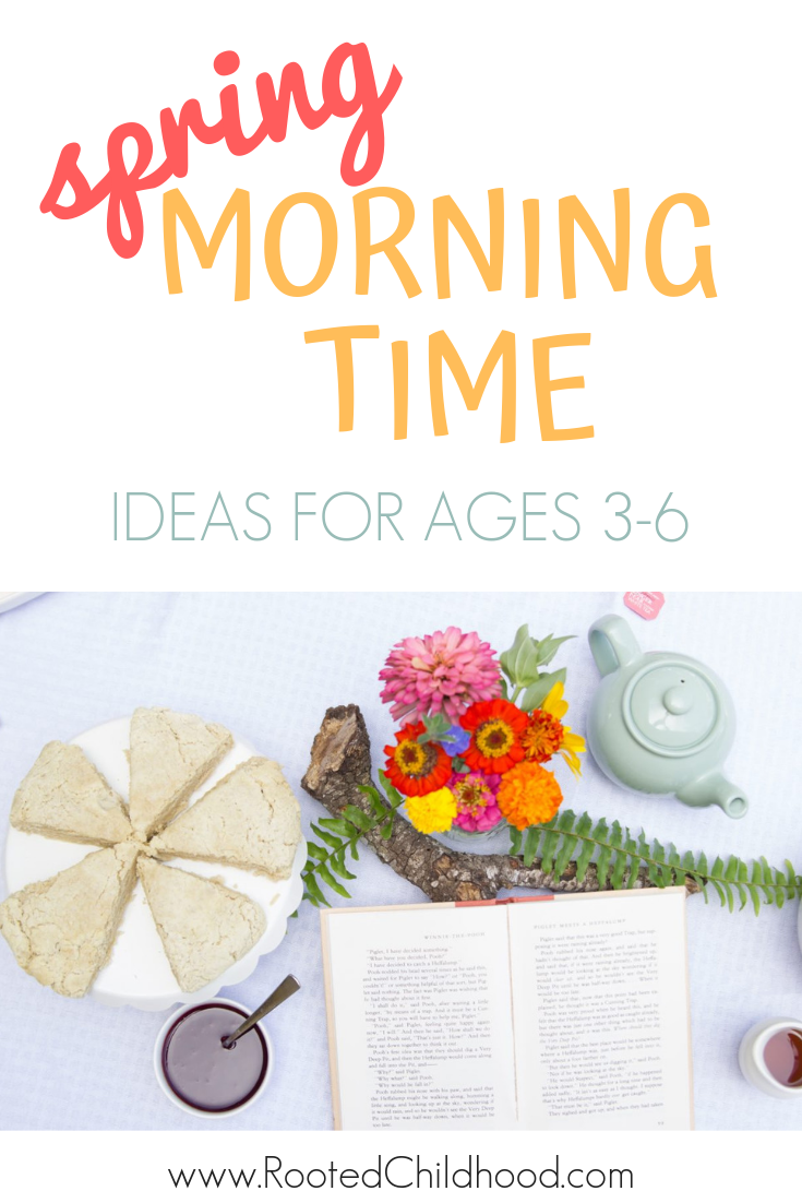 Spring is here! I'm sharing our Charlotte Mason and Waldorf inspired spring morning time plans with folksongs, nursery rhymes, picture books, and more.