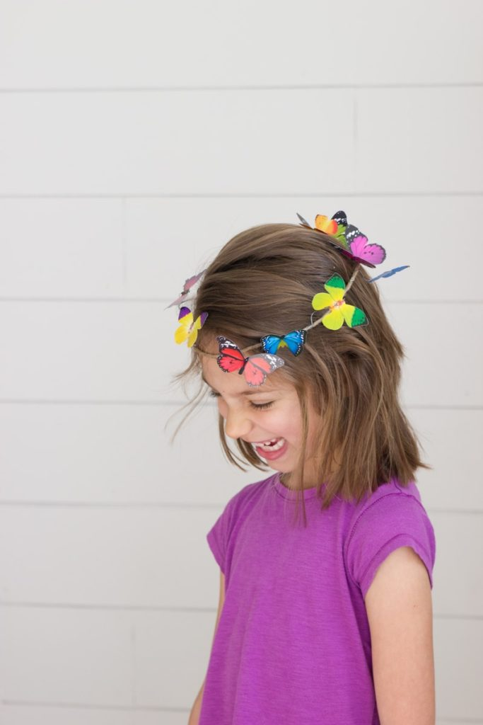 DIY butterfly crown