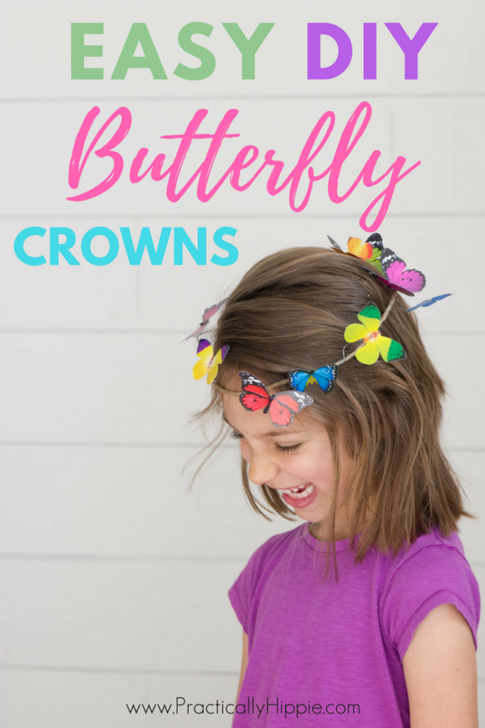Easy DIY butterfly crowns