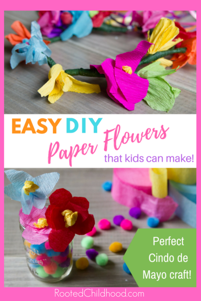 DIY Mexican paper flowers