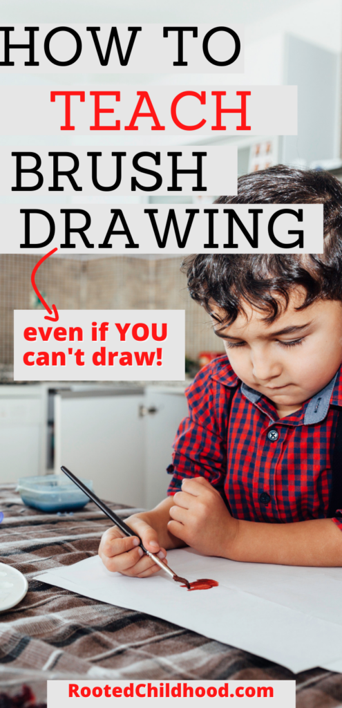 how to teach brush drawing