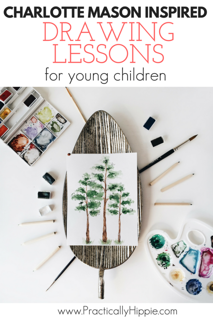 Beautiful drawings and paintings are a hallmark of a Charlotte Mason education. But what if you're not an artist? You can still teach your child to draw with Charlotte Mason drawing lessons.
