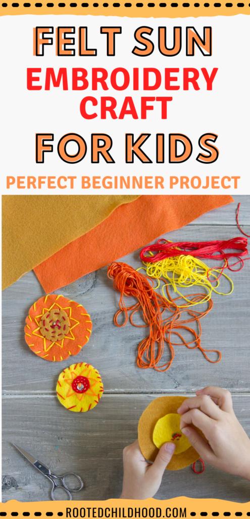 felt sun embroidery craft
