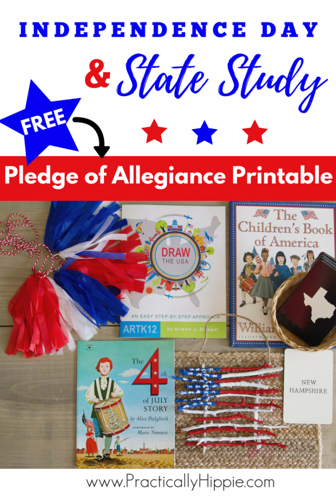 Independence Day and 50 State study resources for young children. Books, songs, hands on learning fun! #homeschool
