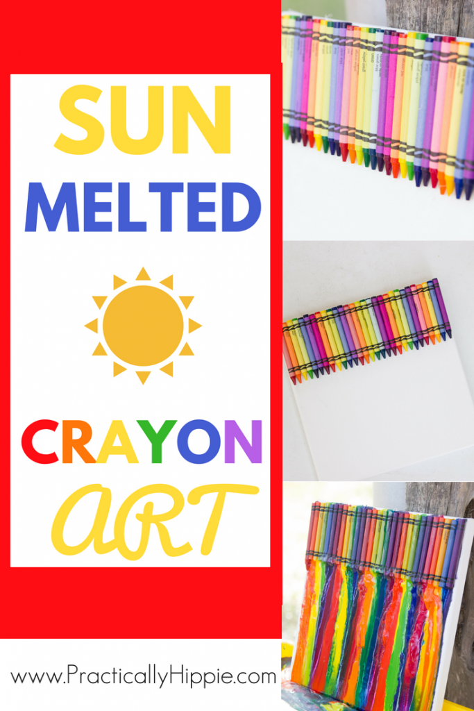 Sun Melted Crayon Art | Fun summer crafts for kids