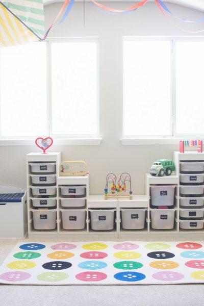 Colorful playroom tour #playroom