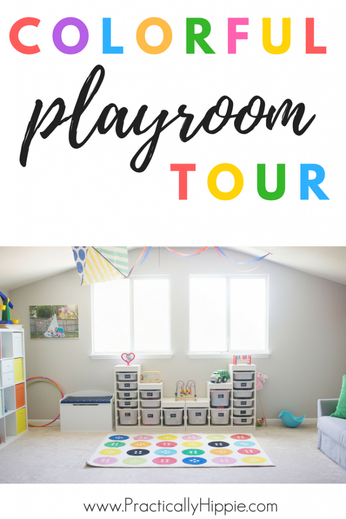 Colorful playroom tour #playroom