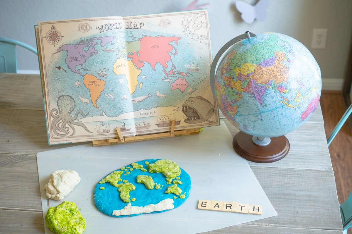 salt dough world map