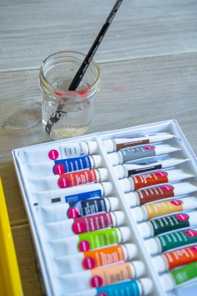 Watercolor paint for DIY papel picado banner