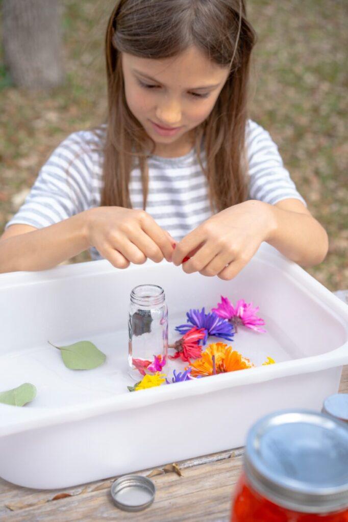 Flower Potion Sensory Play