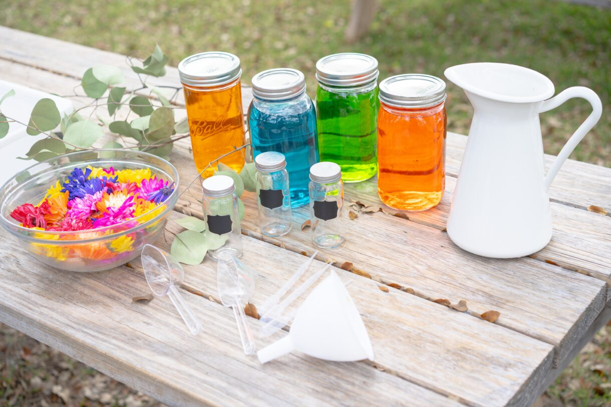 Flower potion supplies
