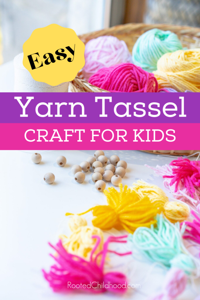 Easy Yarn Tassel Craft for Kids