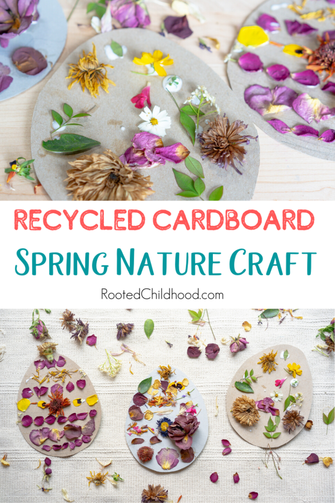 Recycled Cardboard Spring Nature Craft