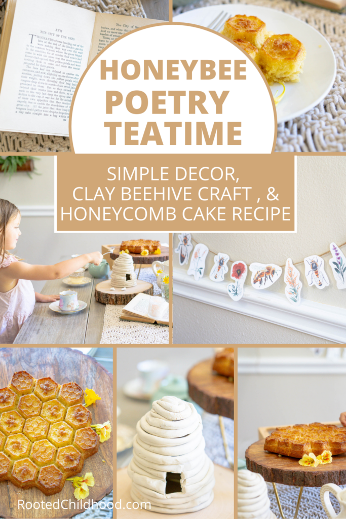 honeybee themed poetry teatime