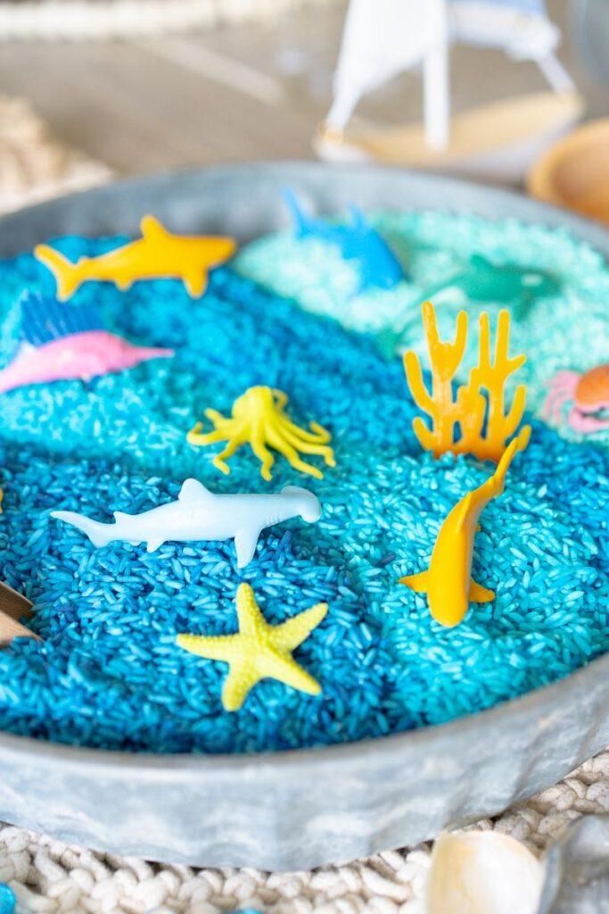 Ocean sensory play