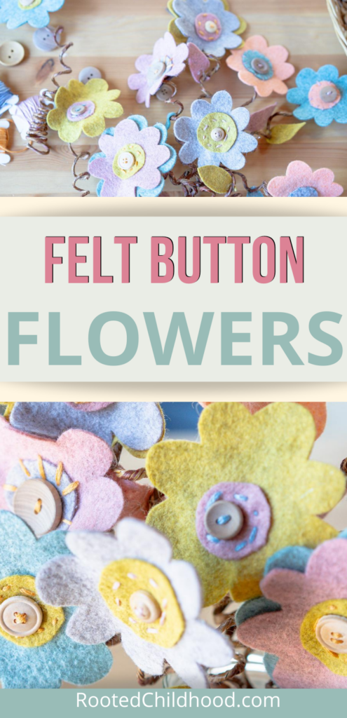 Felt Button Flowers