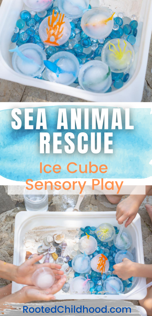 Sea Animal Rescue- Ice cube sensory play!
